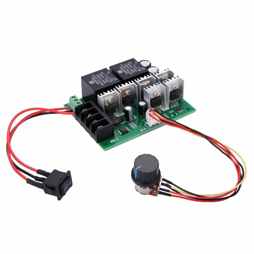 DC 10 v-50 v 12/24/36/48 v 60A PWM Pinsel Motor Speed Control CW CCW Reversible Schalter Mayitr Elektrische Motor Controller Regler