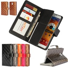 Для Samsung Galaxy Note 3 Note3 Capas чехол Коке Fundas роскошные сумки сетки кожаный бумажник флип Чехол Капа ETUI capinhas hoesjes
