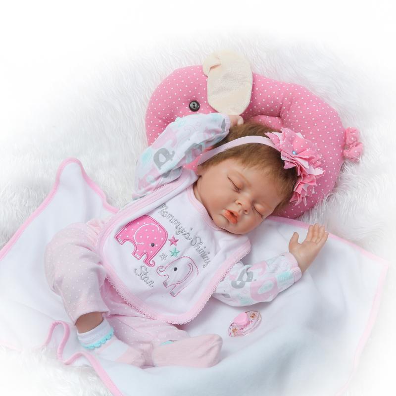 NPK bebe ragazza reborn bambole per bambini regalo 22 55 cm silicone bambole del bambino con morbido cuscino rosa ciuccio bottiglia bonecas rebornNPK bebe ragazza reborn bambole per bambini regalo 22 55 cm silicone bambole del bambino con morbido cuscino rosa ciuccio bottiglia bonecas reborn
