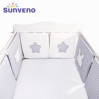 SUNVENO Baby Bed Bumper Newborn Bumpers Baby Room Crib Cotton Infant Comfortable Bumper 6pcs/Set Bedding set