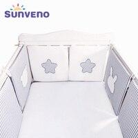 SUNVENO Baby Bed Bumper Newborn Bumpers Baby Room Crib Cotton Infant Comfortable Baby Bumper 6pcs/Set Bedding set