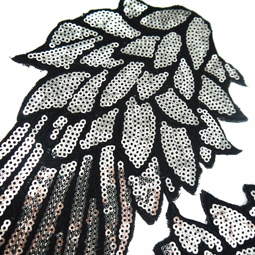 2019 Hàng Mới Về Cánh Đầm Ren Táo Paillette Vải Áo Len Quần Áo Dán Cường Lực ĐÍNH HẠT CƯỜM Dán Áo Thun DIY Trang Trí