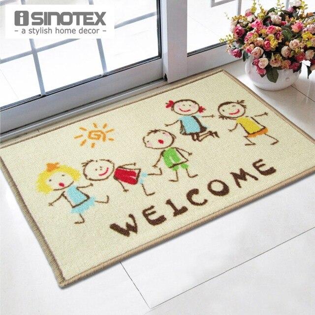 Willkommen Fussmatte 40x60 Cm Cartoon Kinder Gedruckt Tapetes Badematte Fr Wohnzimmer Bad Teppich Nylon Matten