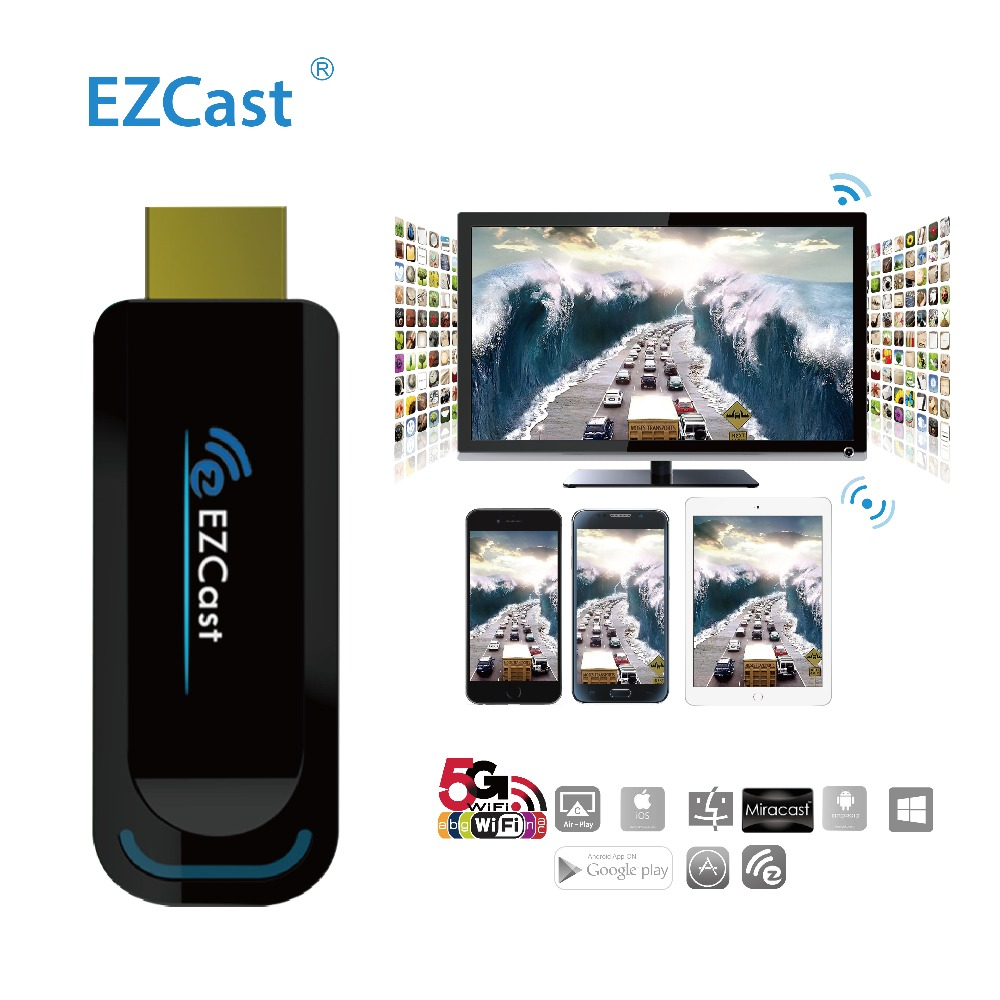 WiFi Display Dongle TV Stick Support DLNA Miracast AirPlay EZCast 5G/2.4G HDMI Display to Projector Computer OTA TV Stick Dongle