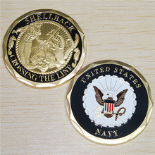 Shellback Navy Marine Corps Challenge Coin,100pcs/lot DHL free shipping