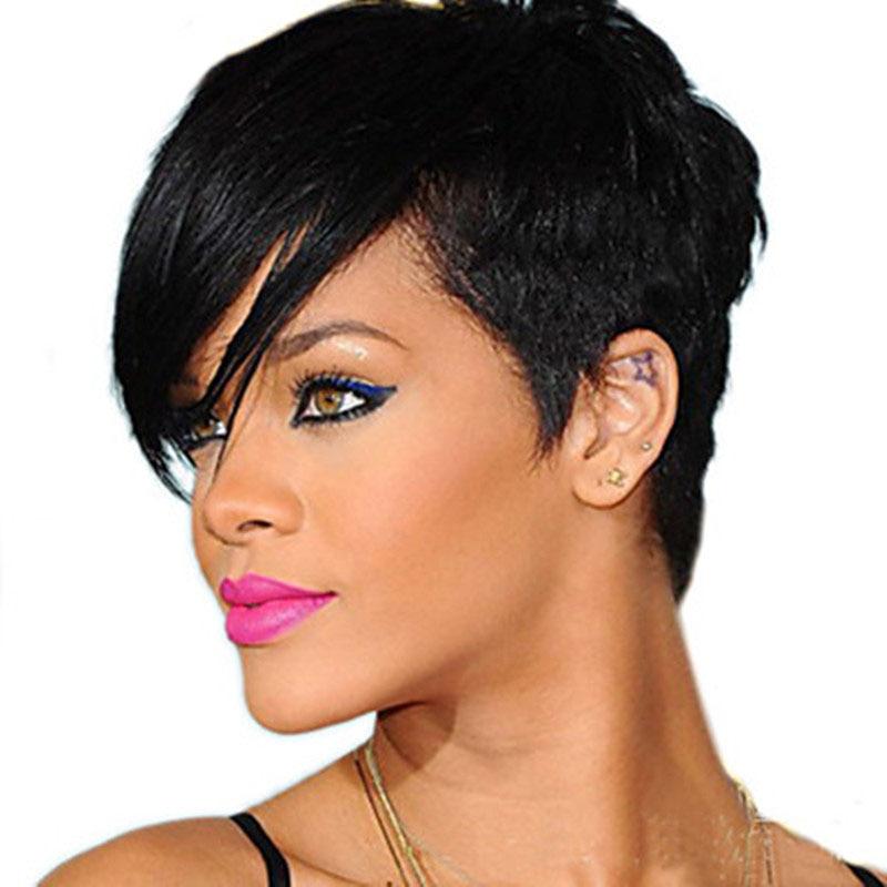 HAIRJOY Synthetic Natrural Black High Temperature Fiber Woman Hair Wig Free Shipping