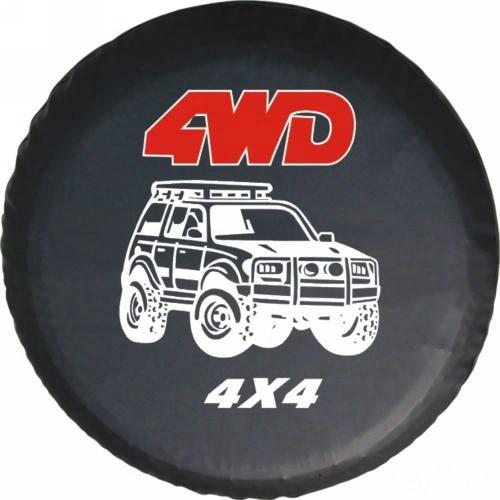 Universal 4X4 Auto PVC Leather Spare Wheel Tire Cover For Toyota Land Cruiser 4500 EFI Mitsubishi Pajero Montero V31 V32 V33 V73