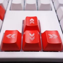 Podświetlane klawisze strzałek/klawiszy kierunkowych Cherry MX klawisze na przełączniki MX podświetlana mechaniczna klawiatura do gier