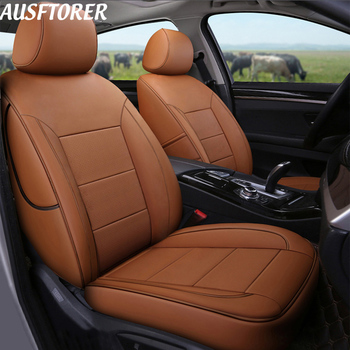 AUSFTORER Custom Fit Cowhide Leather Cover Seats Car for BMW X2 Series 2018 Seat Covers for Cars Cushions Accessories 15PCS/Sets