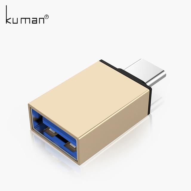Kuman Typ C USB Adapter USB zu Typ C Adapter Kabel Konverter für Usb-Stick USB-Stick zu Telefon Maus tastatur OTG B
