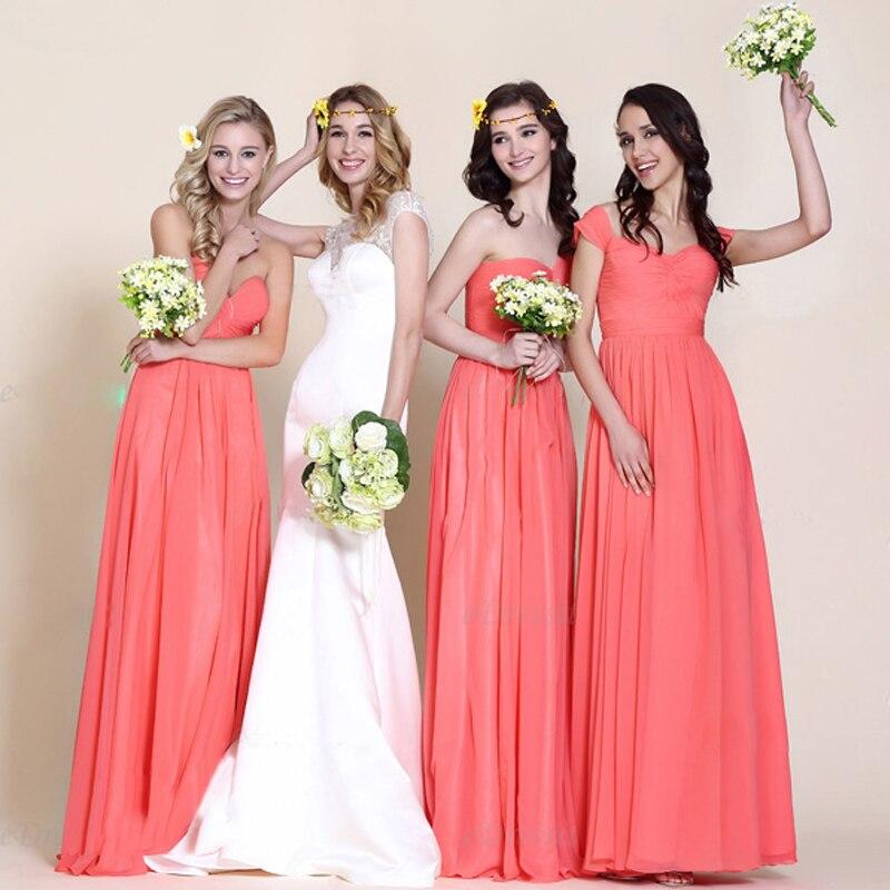 Popular Watermelon Pink Bridesmaid Dresses-Buy Cheap Watermelon ...