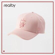 REALBY шляпа Mefale Кепки Для женщин козырек хлопка Корейская бейсболка Для женщин летние фиолетовая шляпа Бейсбол Кепки KR16