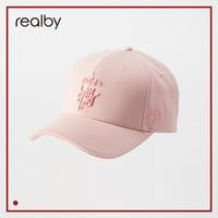 REALBY Hat Mefale Cap Women Visor Cotton Korean Baseball Cap Women Summer Purple Hat Baseball Cap KR16