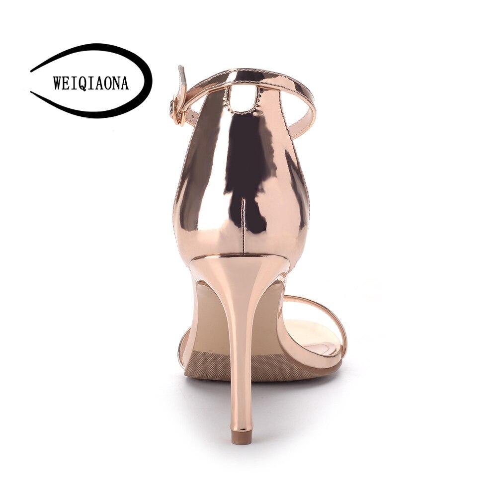 712619b8 Altos Plata Verano Abierta Para Nuevas Tacones 2018 Moda Informales De  Sandalias Mujer Dorados Fiesta Zapatos ...