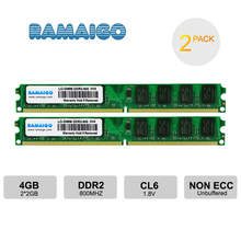 цена на RAMAIGO PC2-6400 DDR2 New 1GB 2GB 4GB Desktop Memory ram PC-ram 800mhz for all Intel AMD motherboards