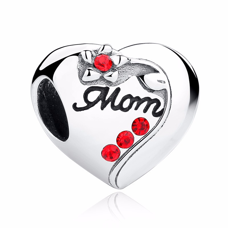 Silver Family Charm Beads - mom 2