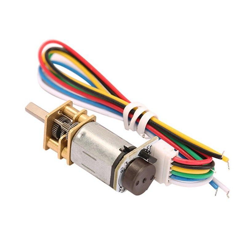 Dc 6v 90rpm n20 encoder motor reducer gear motor dc gear for Dc gear motor 6v