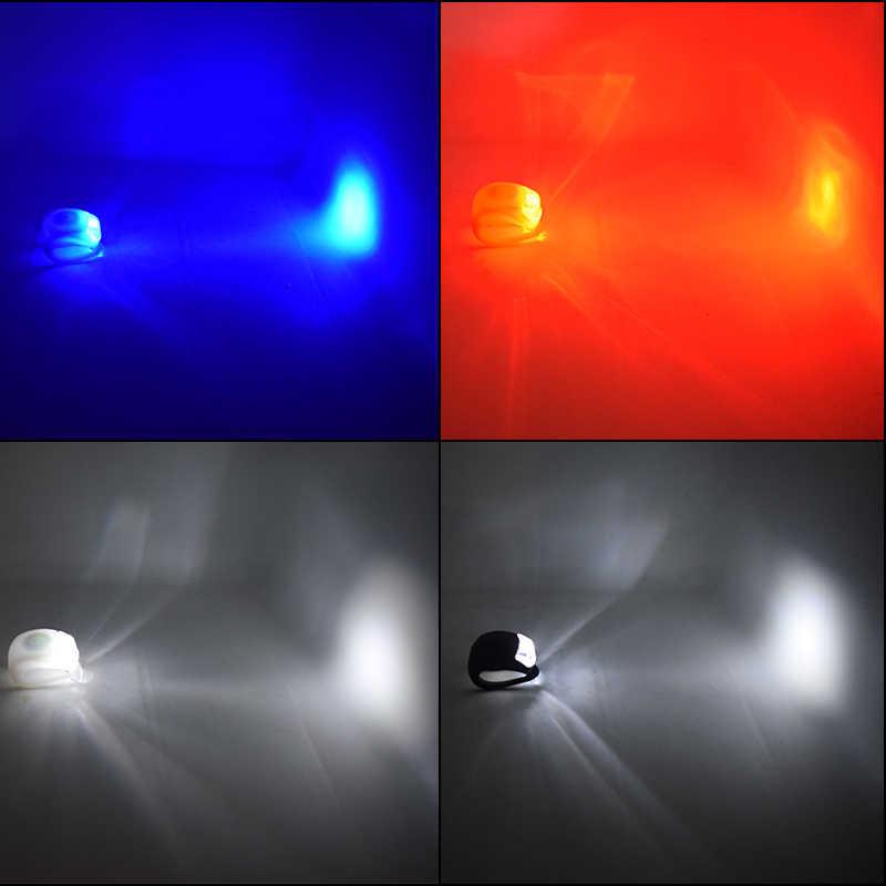 WasaFire силиконовый предохранительный Предупреждение свет 3 режима Велосипедные фары шлем светодиодный флэш-колесо с подсветкой передняя фара для велосипеда Цикл задний фонарь