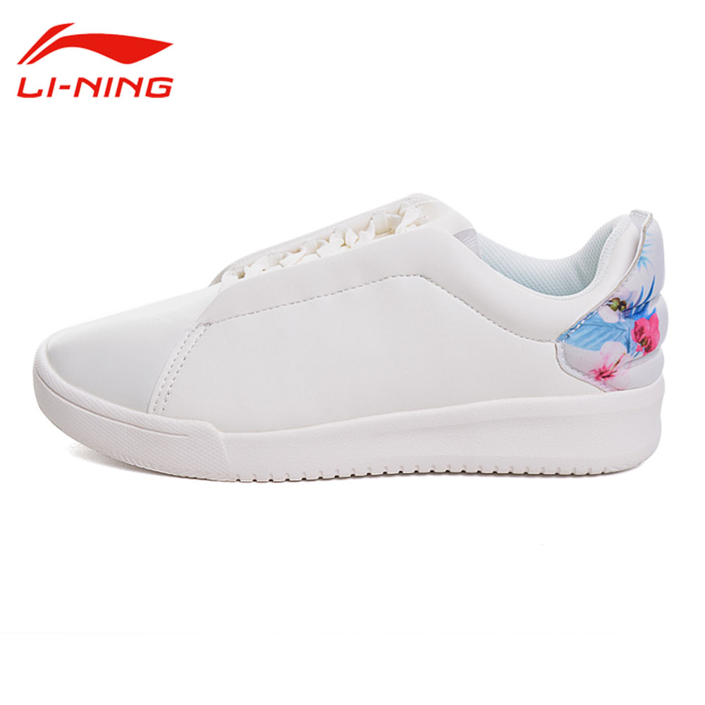 Li-Ning Women Sping Autumn Classic Walking Shoes Simple Color Li Ning Light Comfort Leisure Sneakers LINING Sports Shoes GLKM076 original li ning men professional basketball shoes