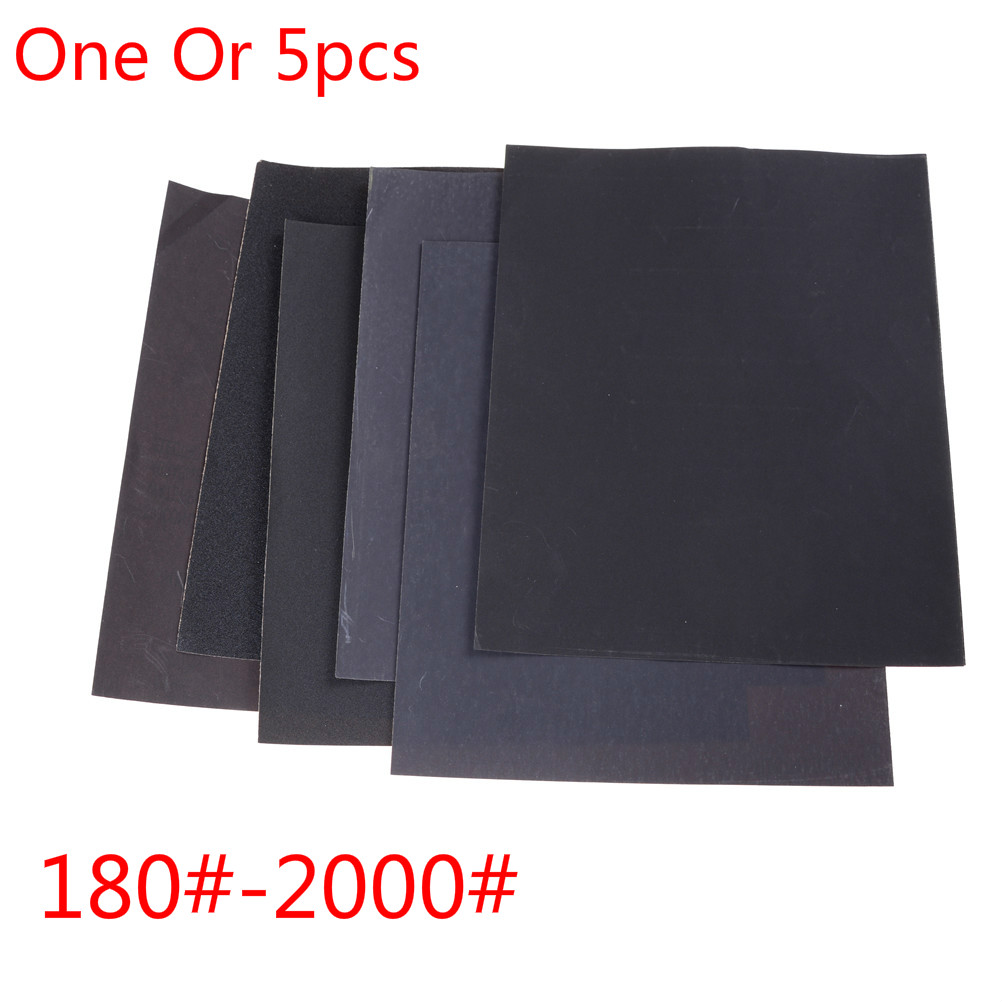 One Or 5pcs Sandpaper Set 180#-2000# Grit Sanding Paper Water/Dry Abrasive SandPapers 230 * 280mm
