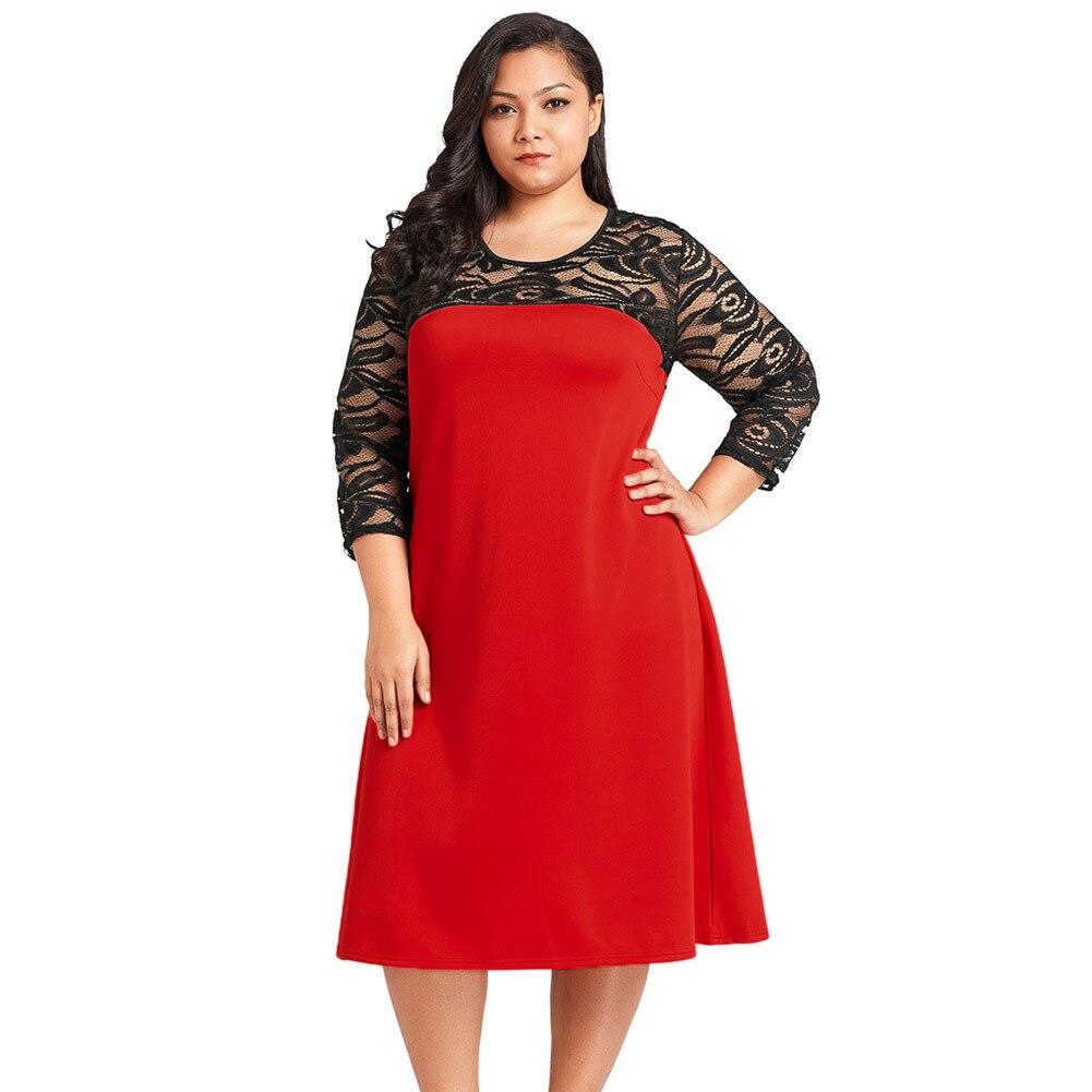 JITIVR 2018 New Plus Size Women's Dress Elegant Dresses