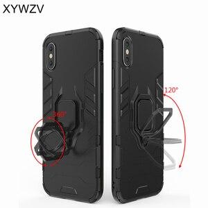 Image 5 - Vivo Y91 funda a prueba de golpes cubierta dura PC armadura Metal dedo anillo soporte teléfono funda para Vivo Y91 protección contraportada para Vivo Y91