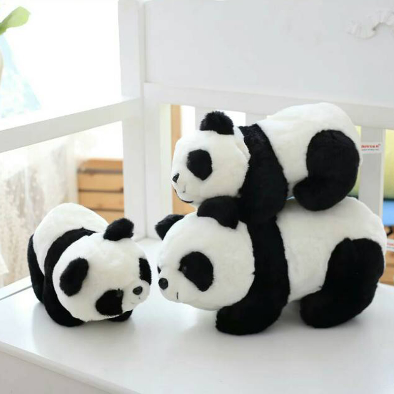 Nooer 25/35CM Lovely Soft Plush Penda Toy Stuffed Plush Animals Panda Doll Birthday Baby Children Kids Gift Free Shipping 50cm lovely super cute stuffed kid animal soft plush panda gift present doll toy