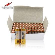 50ピース/ロット23a 12ボルト一次乾電池21/23 23ga a23 A-23 RV08 55 mahアルカリ電子バッテリー卸売送料ドロップ配送
