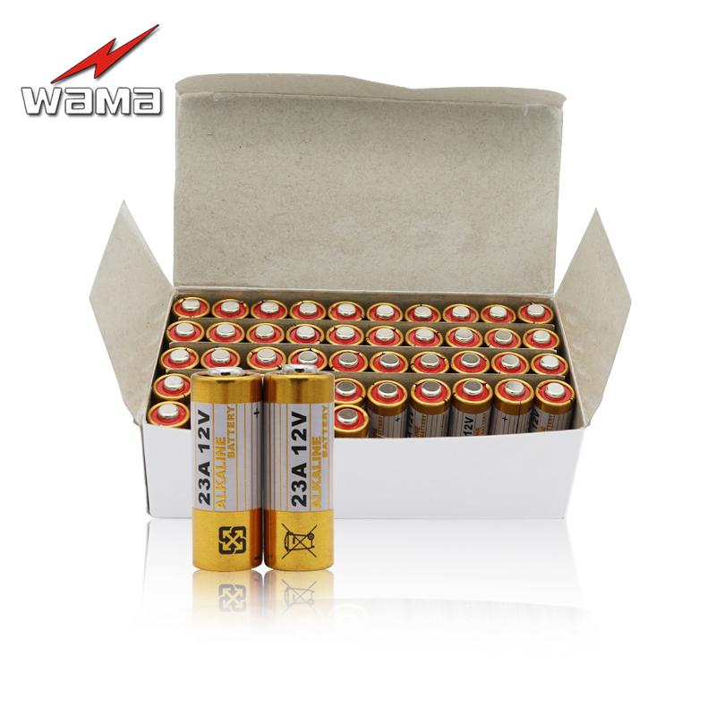 50pcs/lot 23A 12V Primary Dry Batteries 21/23 23GA A23 A-23 RV08 55mAh Alkaline Electronic Battery Wholesales Free Drop shipping