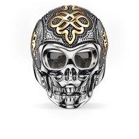 925 Sterling Zilver & Goud-kleur Liefde Knoop Skeletschedel Ringen, europese Thomas Stijl Ring Sieraden Liefde Beste Gift voor Vrouwen Mannen