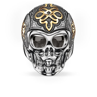 TS Jewellery 925 Sterling Silver 18K Gold Plated Love Knot Skull Rings Thomas Saab Style Jewelry