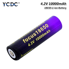 1/2/4 Pcs High Power 3.7V New 18650 10000mAh Li Ion Lithium Batteries Replacement Cell For Camera Toy Remote Control Laptop