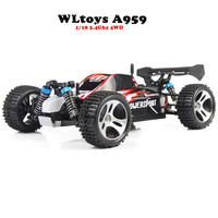 WLtoys A959 Electric Rc Car Nitro 1 18 2 4Ghz 4WD Remote Control Car High Speed