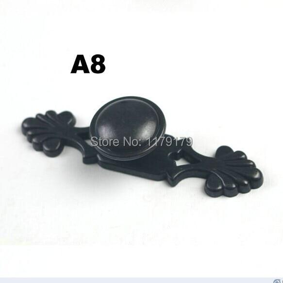 modern simple black furniture handles black drawer kitchen ...
