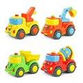 Blocos de construção da cidade de construção série de crianças toys mini emoticon carro caminhão bebê carro de volta carro inercial wj125