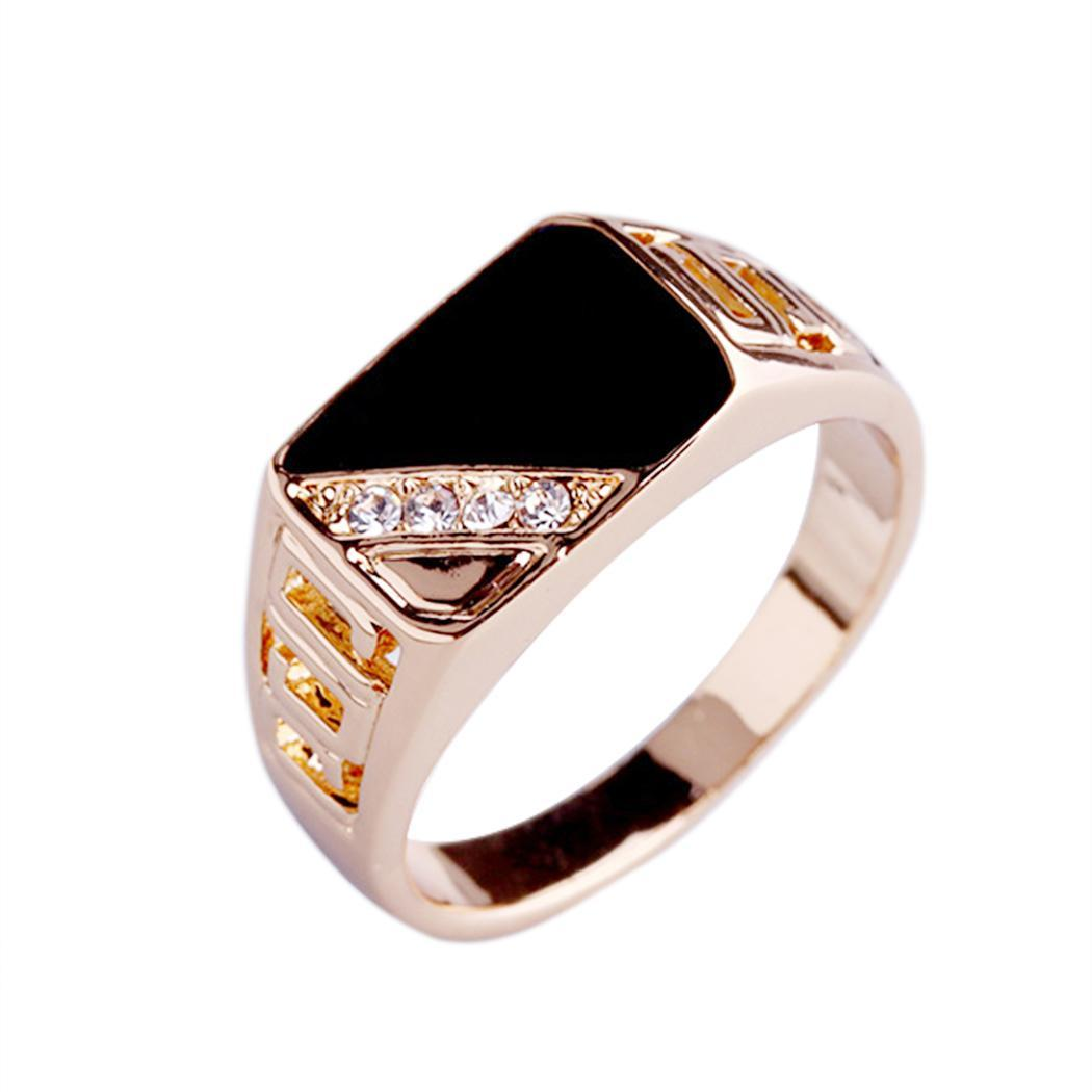 Rings Men Fashion Jewelry 1PC Men Rhinestone Stone