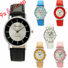 Simple Fashion Personality Leather Quartz Wrist Watch #3364 Brand New High Quality Luxury Free Shipping