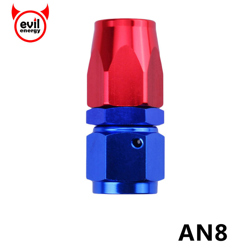 Black AN6 AN-6 Straight Push Lock Oil//Fuel//Gas Hose Line End Fitting Adapter