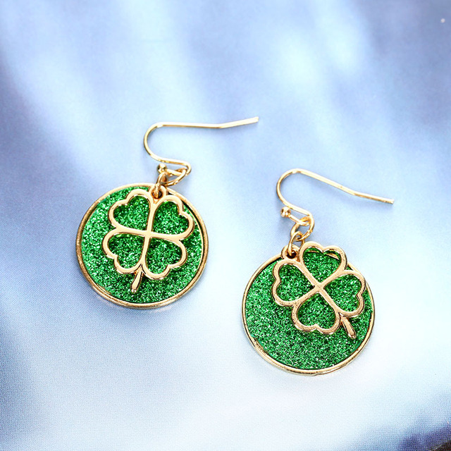 ce67466850a95 New ArriveLucky Green Color Four Leaf Clover D Earrings Fashion Brand Women  Earring Gift Jewelry Costume Accessories Hot Sale-in Drop Earrings from ...