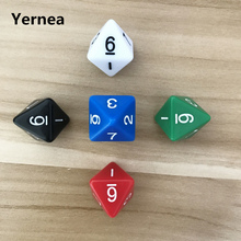5Pcs/Lot D8 Dice Eight Surfaces Colour Acrylic RPG Polyhedral Set Dungeons and Dragons Table Games Yernea