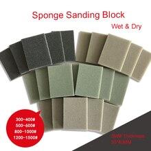 40pcs Sanding Sponge Abrasive Disc Sandpaper 30*40MM Wet & Dry 300-1500 Grit Polishing Grinding Tools