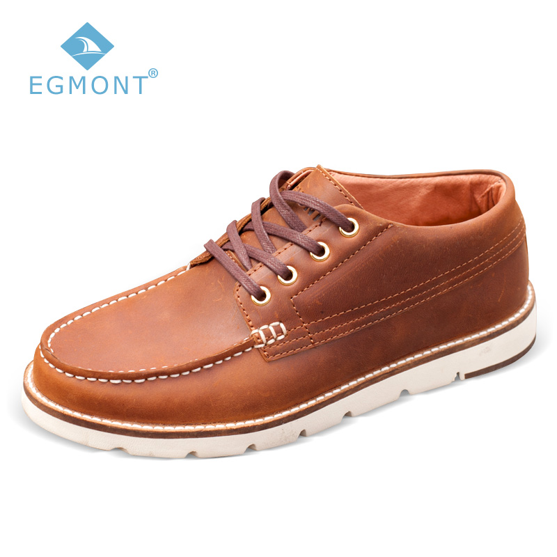 Egmont EG-80 Brown Spring Autumn Lace-up Moccasin Mens Casual Shoes Loafers Shoes Leather Handmade Comfortable BreathableEgmont EG-80 Brown Spring Autumn Lace-up Moccasin Mens Casual Shoes Loafers Shoes Leather Handmade Comfortable Breathable