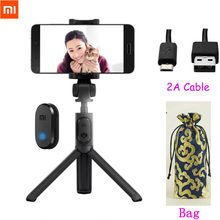 Xiaomi Foldable Handheld Mini Tripod Monopod Ponsel Selfie Stick Nirkabel Bluetooth Remote Shutter untuk IPhone8 X Huawei(China)