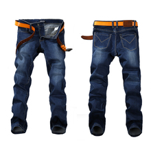 2016 Spring Stretch JEANS Plus Big Size 29 - 44 46 48 Straight Denim Men Famous Brand