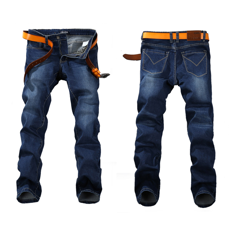 2019 Spring Stretch JEANS Plus Big Size 29 - 44 46 48 Straight Denim Men Famous Brand