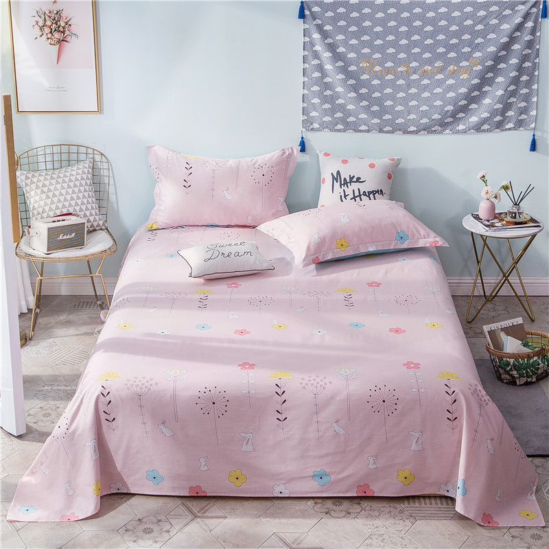 Bedding Sets Flat Sheet 100% Polyester Fabric Bed Sheet For Child Kids Adults King Size Mattress Protector Cover 230X250cm Size