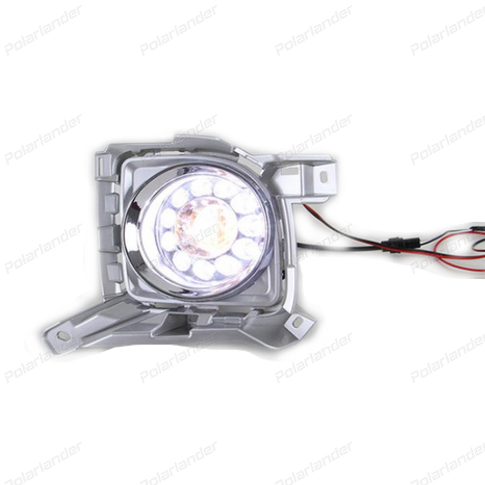 Daytime Running Lights 12V 6000K led car drl accessories For T/oyota L/andcruiser F/J200 LC200 with fog lamp 2012-2015