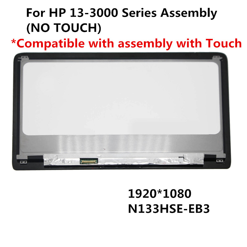 For HP Spectre 13-3000 Series LCD Display(N133HSE-EB3) with NON-Touch Assembly 2013 2014 version