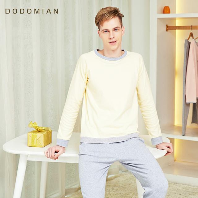 ¿ QUÉ MIAN Chándal Hombres Sueltos pantalones de Pijama Conjunto Ropa de Dormir Flojo Casa Ropa de Noche Ocasional Suelta de Algodón Camisetas + Pantalón Fondo