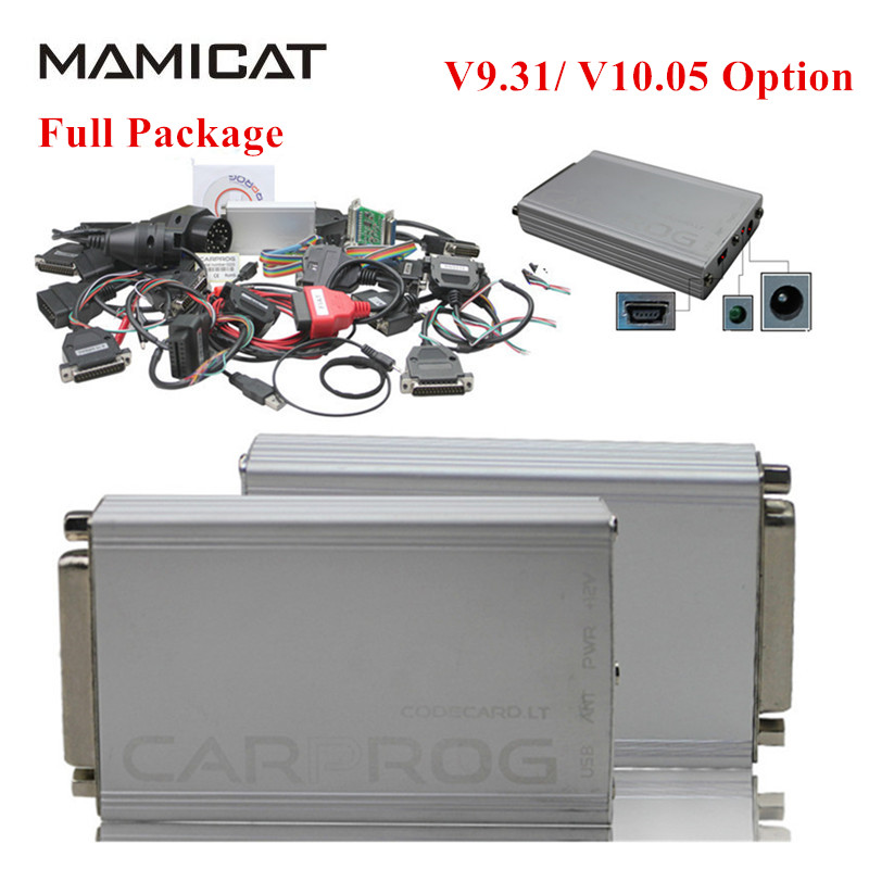 Full Carprog V9.31/V10.05 Optional Auto Repair Carprog Car Prog Full V9.31 With 21 Adapters OBD2 Airbag Reset Tool For IMMO ECU